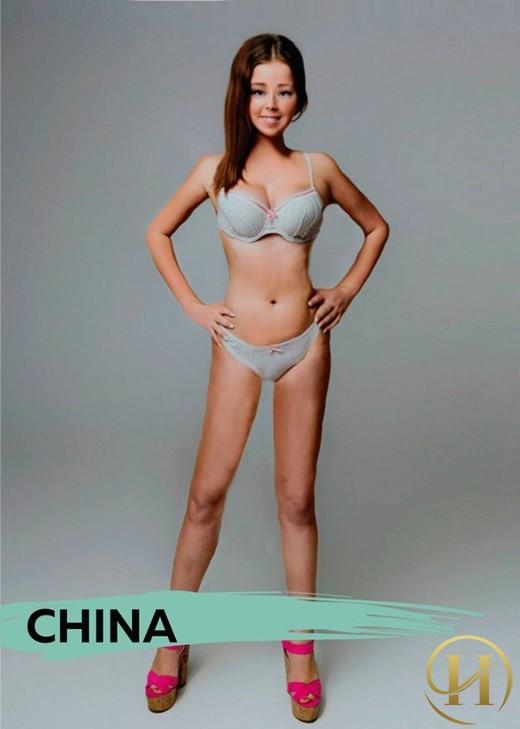 Người Trung Quốc và các nước châu Á đề cao sự thon thả với da trắng, chân dài.
