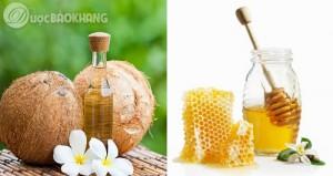 Tri da khô bằng mật ong và dầu dừa