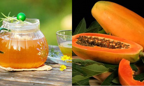 Dùng đu đủ và mật ong để đắp mặt nạ cho làn da bị nám