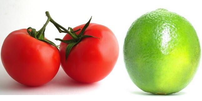 Kết hợp cà chua và nước cốt chanh để điều trị nám da