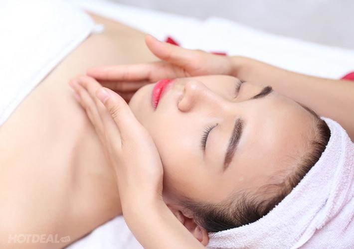 Bước 2: Rửa mặt, tẩy da chết, bôi tê, đánh dấu vị trị trị liệu