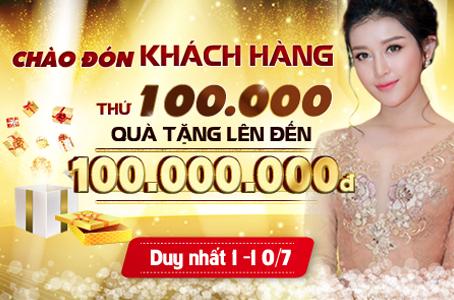 CHÀO ĐÓN KHÁCH HÀNG THỨ 100.000
