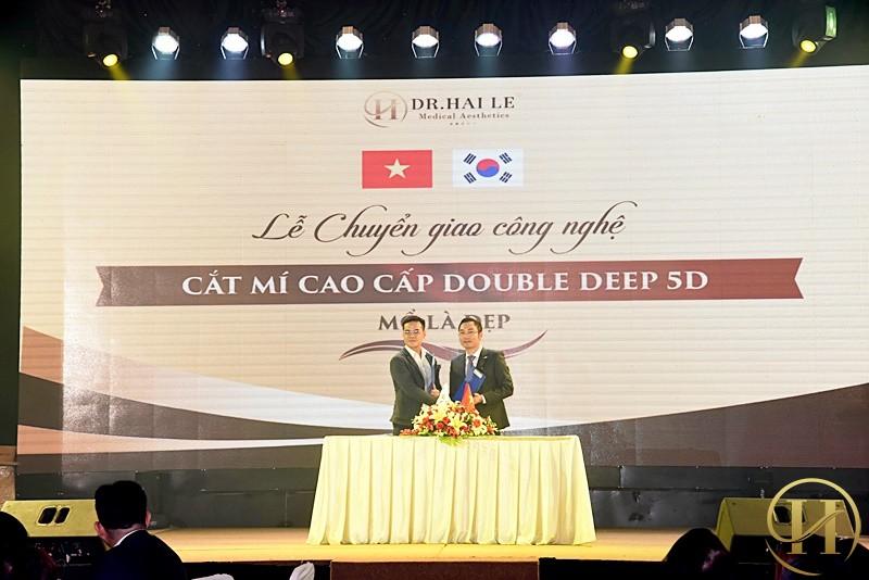 Công nghệ cắt mí Double Deep 5D được chuyển giao từ bệnh viện Grand Hospital Korea cho VTM Dr.Hải Lê