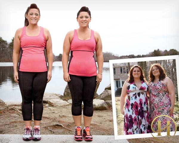 Học cách giảm 41 kg mỗi người của hai chị em sinh đôi