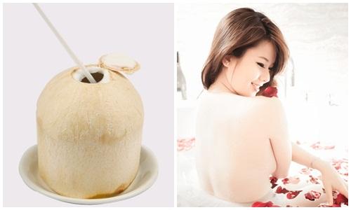 Bí quyết làm da trắng mịn, sáng màu bằng nước dừa