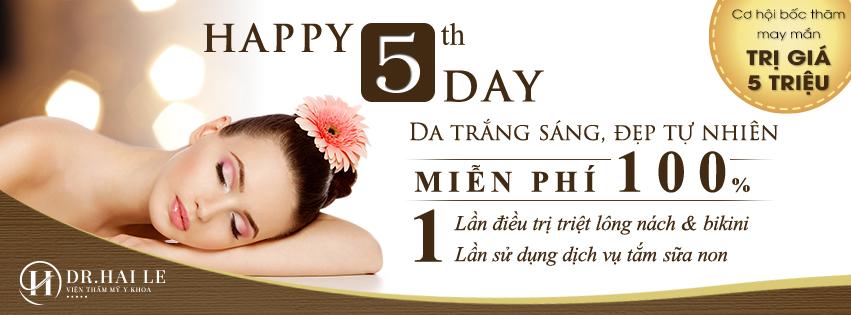 """Ngày hạnh phúc cùng Dr.Hải Lê """"Dr.HaiLe happy 5th day"""""""