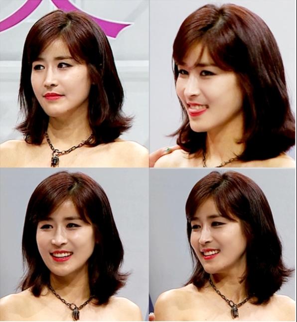 Cận cảnh khuôn mặt xinh đẹp của cô gái trẻ