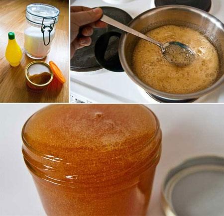 triệt tẩy lông bằng mật ong tự nhiên