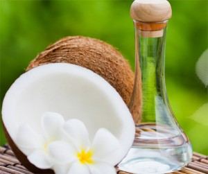 Minh họa dầu dừa - giải pháp điều trị da khô cho bạn
