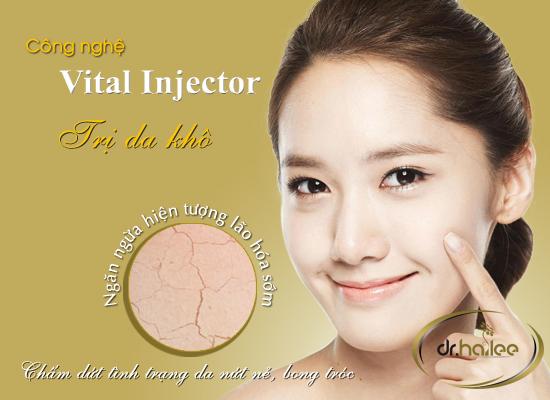 Điều trị da khô bằng công nghệ Vital Injector